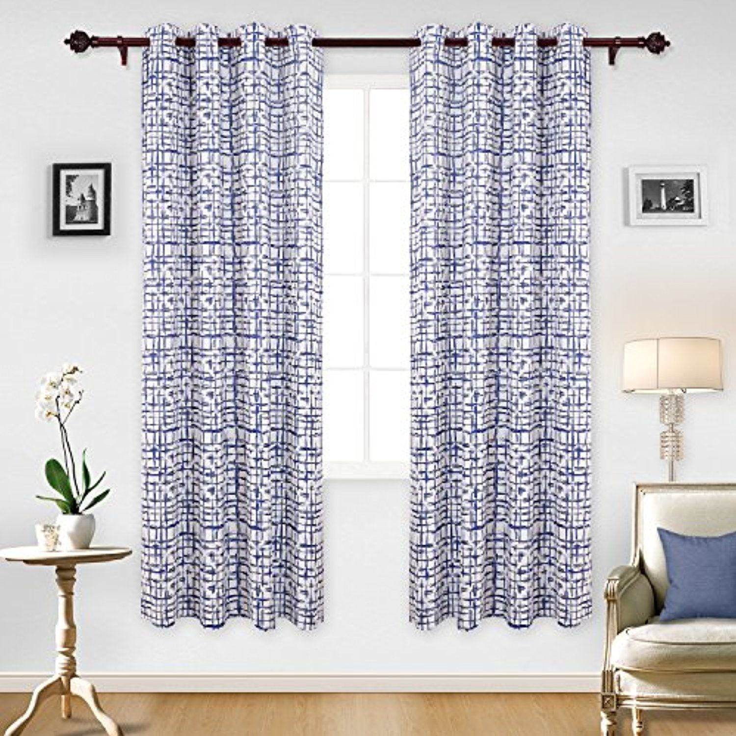 Deconovo Modern Geometric Decor Curtains Geometric Print Thermal