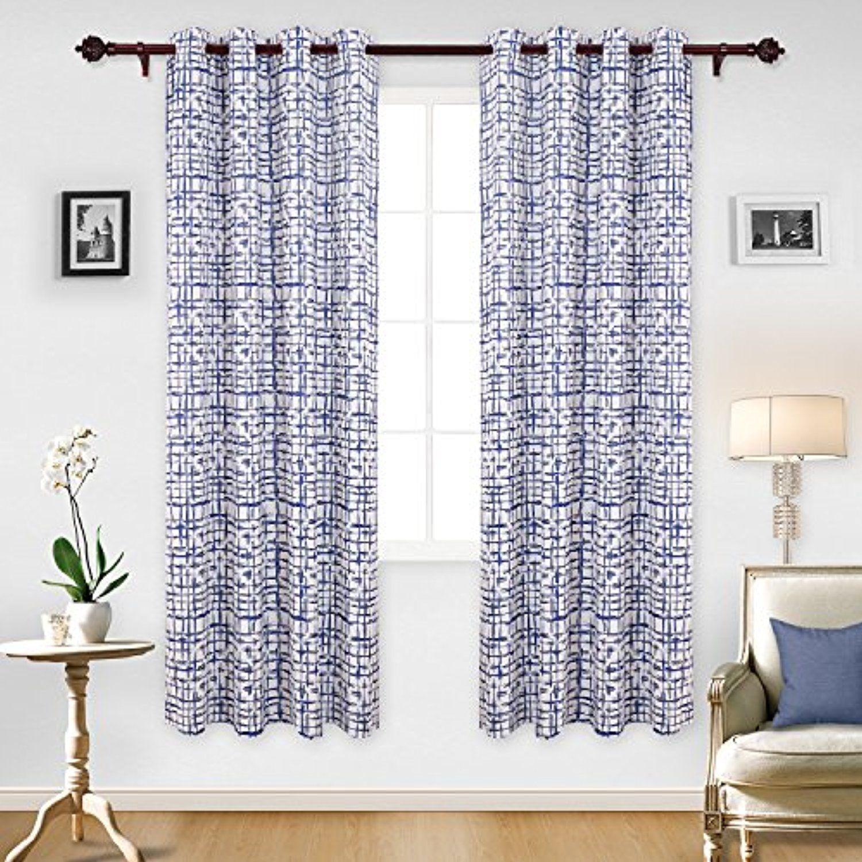 Deconovo Modern Geometric Decor Curtains Geometric Print Thermal Insulated Blackout Curtains For Livin Insulated Curtains Curtains Living Room Thermal Curtains