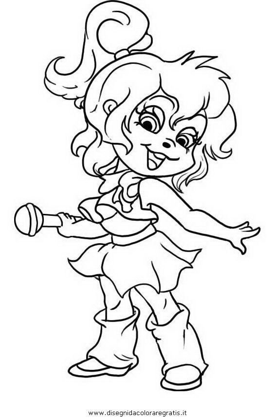 the chipettes coloring pages free - photo#31