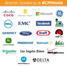 Great brands speaking at #CMWorld this year!