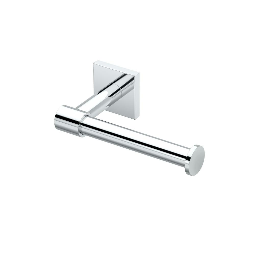 Gatco District Ii Euro Toilet Paper Holder In Chrome 5363 Gatco Toilet Paper Holder Bathroom Tissue Holder