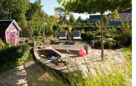 Familiengarten Planungs-Beispiele Segelboot, Highlights und Alter - gartengestaltung reihenhaus beispiele