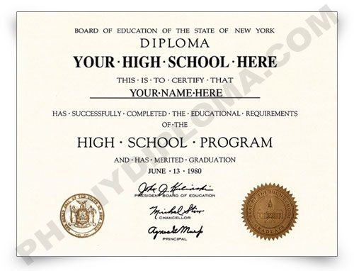 High school diploma in one day | Fake High School Diploma Online ...