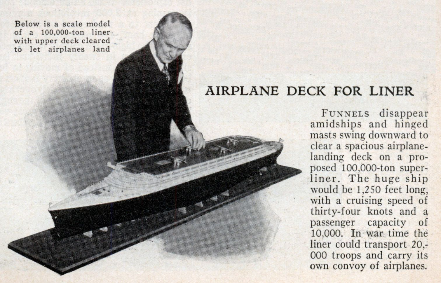 Proposed unbuilt Aircraft carrier Liner Yankee Clipper