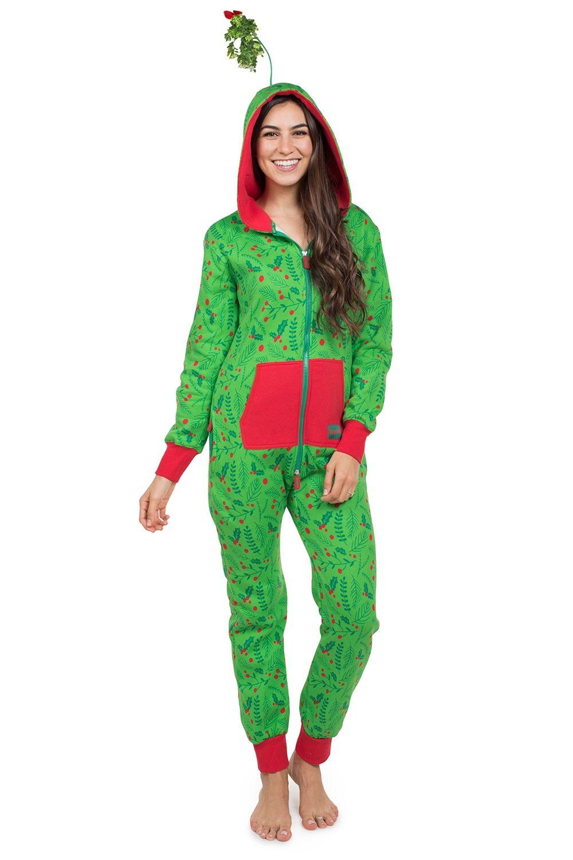 effd59ed50 Women s Mistletoe Christmas Jumpsuit