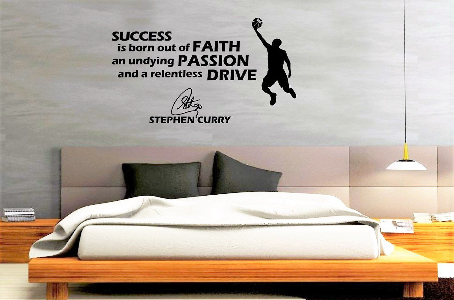 Amazon.com: Basketball Wall Decals   Stephen Curry Famous Quote Decals By  CraftyDecoArtz: