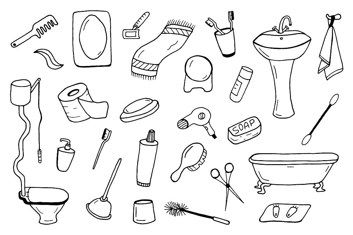 Bathroom Accessories Collection Doodles Doodle Designs