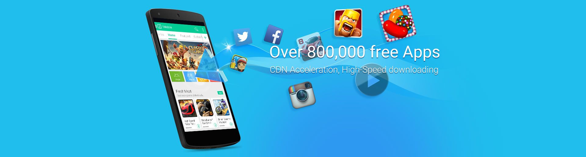 Over 800,000 free apps for direct download to your phone  -1Mobile