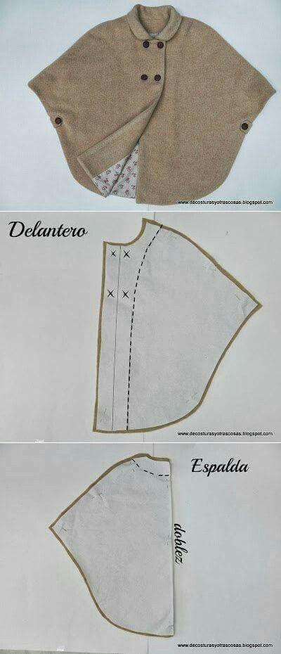 PONCHO CAPA | Creativo | Pinterest | Costura, Ropa y Patrones