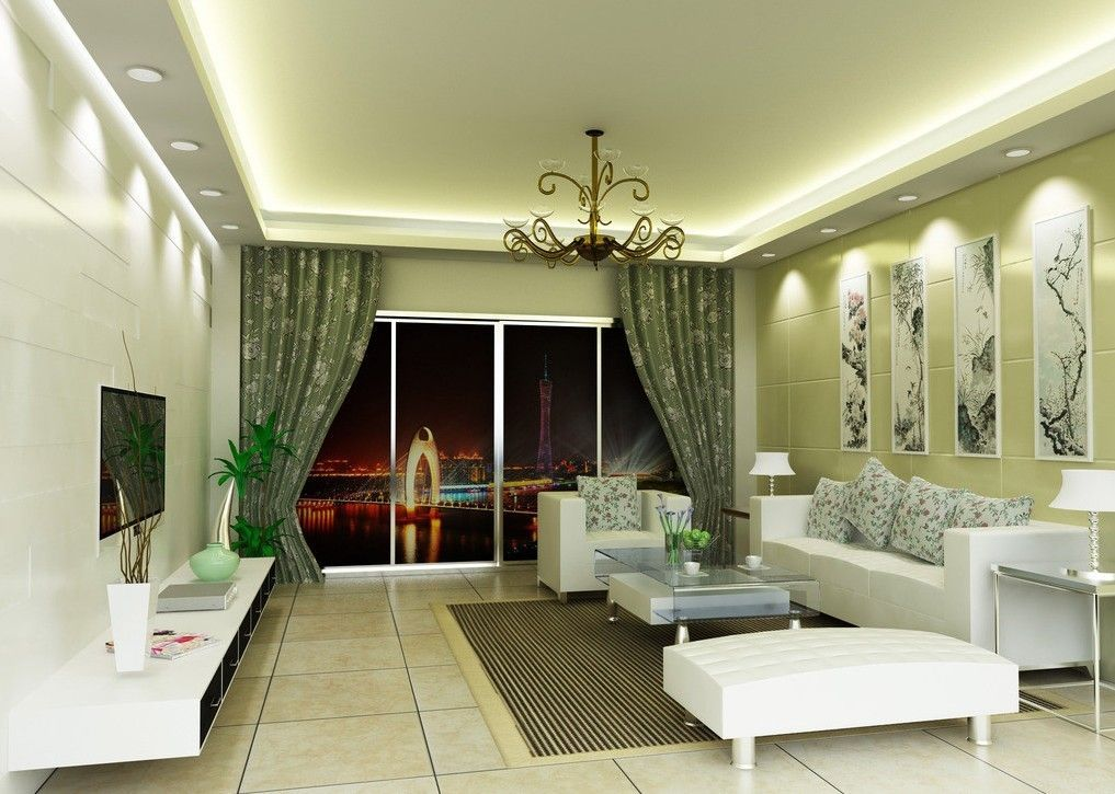 living room and kitchen with green walls design ideas apartment