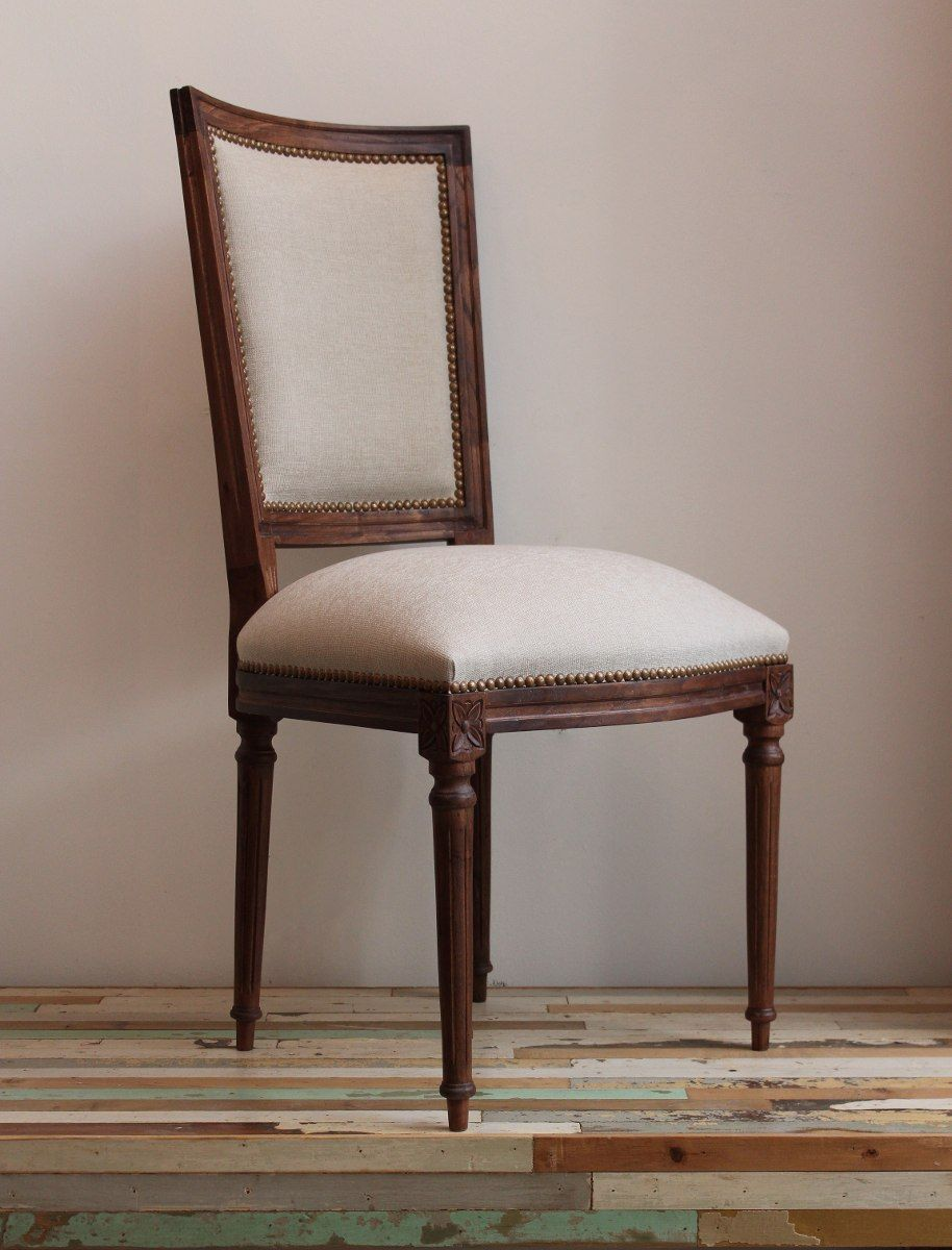 Vintage design silla francesa de estilo luis xvi tallada for Sillones modernos buenos aires