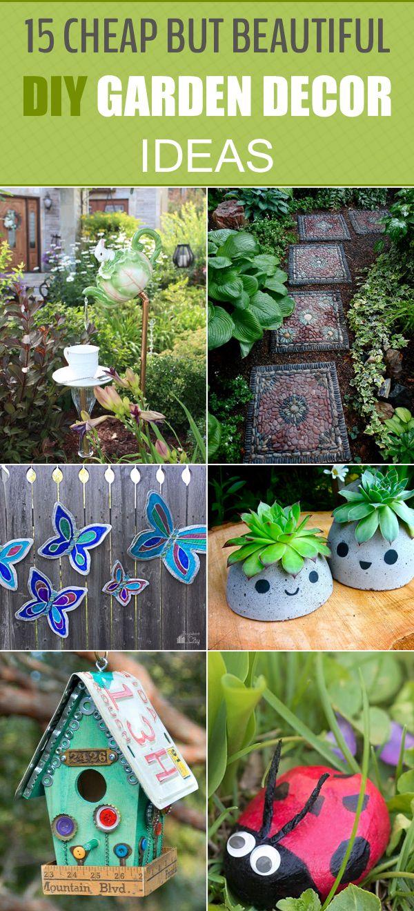 16 Cheap But Beautiful DIY Garden Decor Ideas  Garden ideas diy