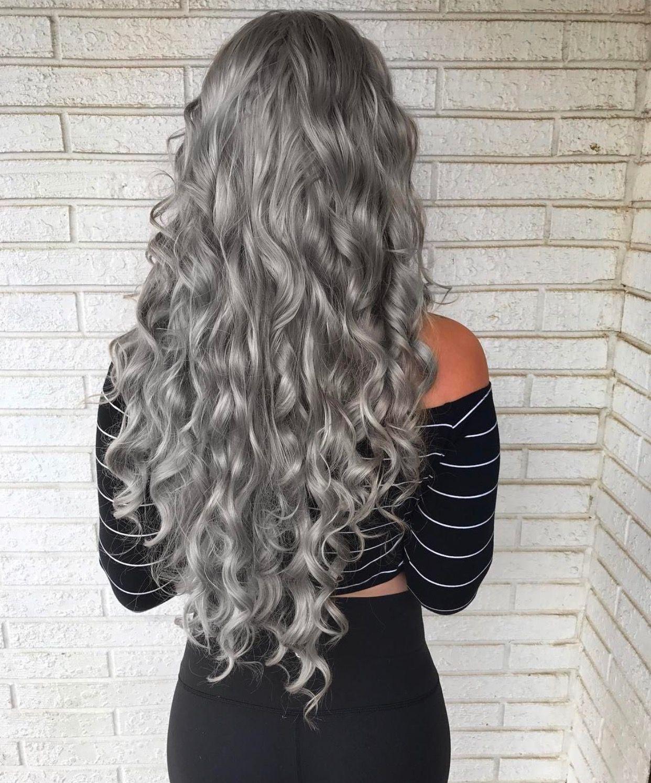 Seriously Grey Hair Wig Hair Styles Grey Curly Hair