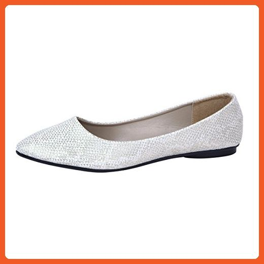 b4bcd43ad0bf49 Sol Los Angeles Women s Gold Fish Scale Patterned Ballet Flat Shoes ...