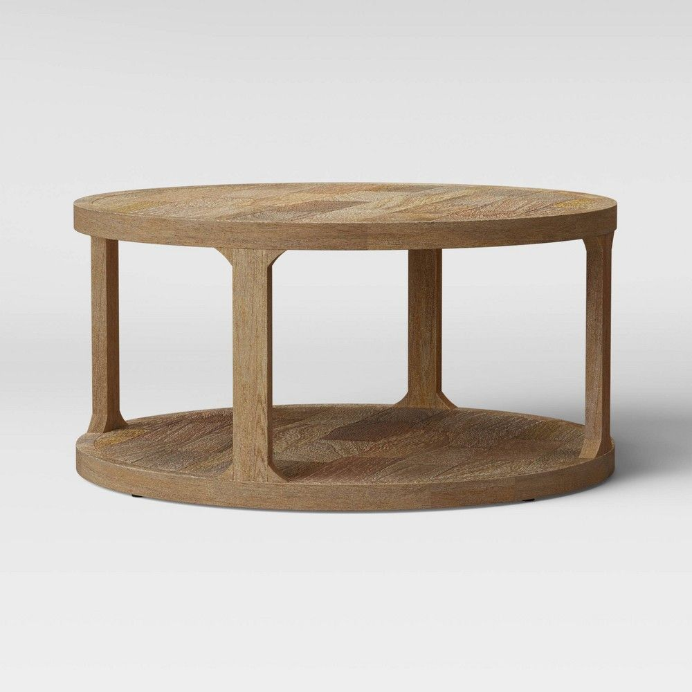 Castalia Round Natural Wood Coffee Table Threshold Natural Wood Coffee Table Coffee Table Wood Coffee Table