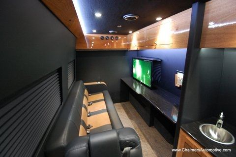 Mercedes Benz Luxury Tailgater Two Tone Throne Conversion Van