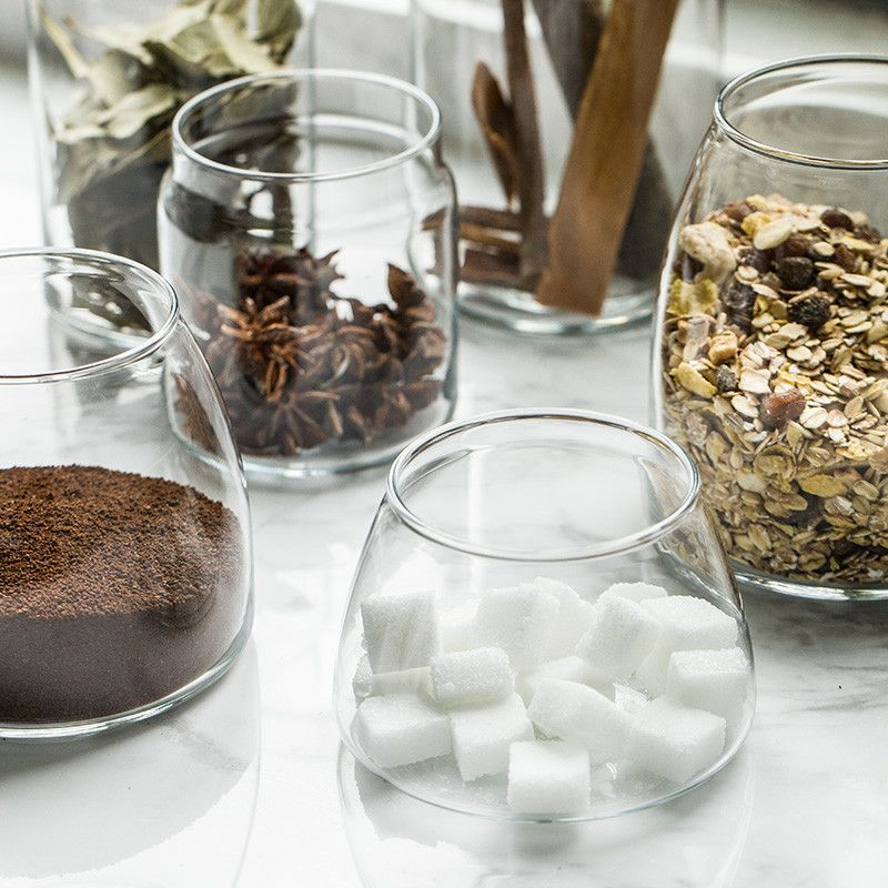 Tempered Glass Candy Jars For Sweets Storage Candy Buffet Candy Station Dessert Table With Images Glass Candy Jars Fruit Storage Grain Storage