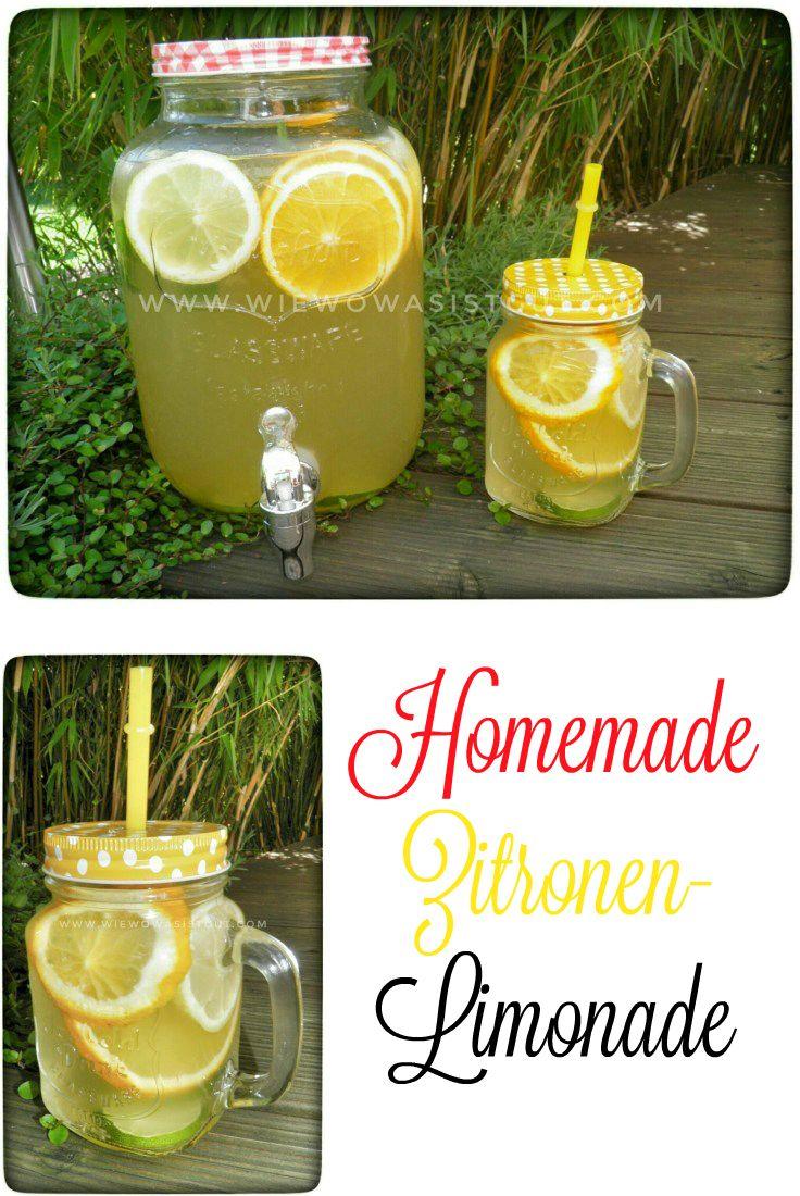 Zitronenlimonade...frisch, lecker und mit wenig Zucker - wiewowasistgut.com