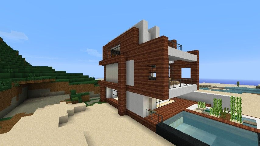 Minecraft Beach House Small Modern Beach House Schematic