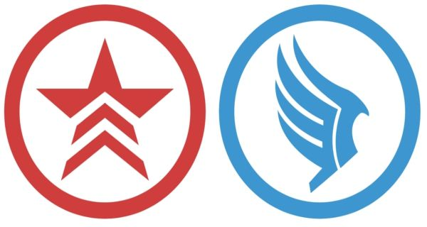 Renegade Or Paragon Symbols From Mass Effect One Or The Other Or