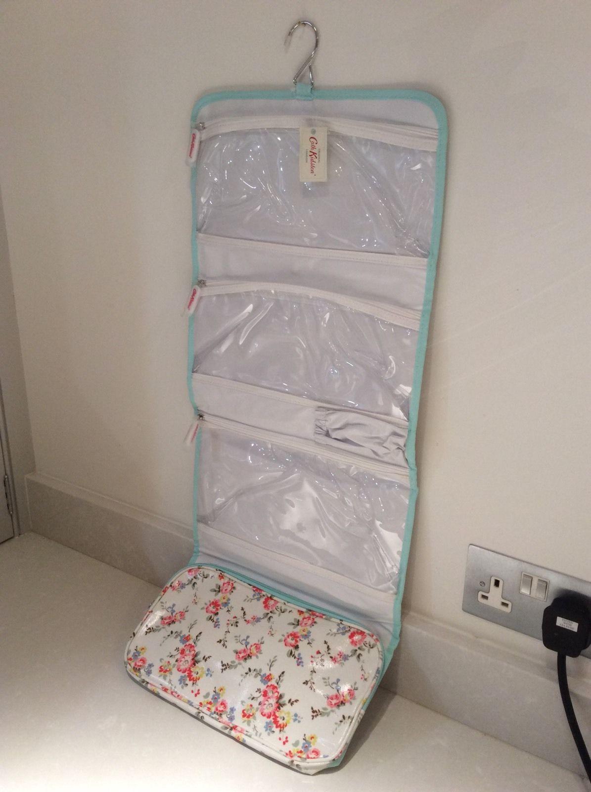 25b87e7b32e BNWT Cath Kidston Hanging Roll Wash Bag Oil Cloth Cosmetic Case Toiletry Bag    eBay