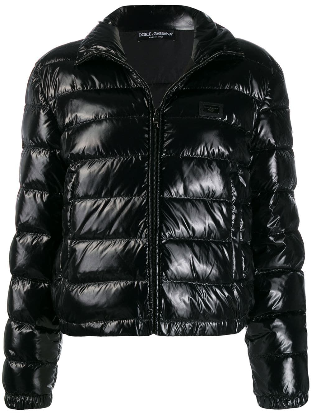 Dolce Gabbana Shiny Puffer Jacket Farfetch Dolce And Gabbana Puffer Jackets Puffer Jacket Women [ 1334 x 1000 Pixel ]