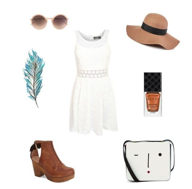 """Field Day"" by ila-rose ❤ liked on Polyvore featuring moda, Linda Farrow, Pilot, Lulu Guinness, Free People, Reiss, Gucci, women's clothing, women e female"