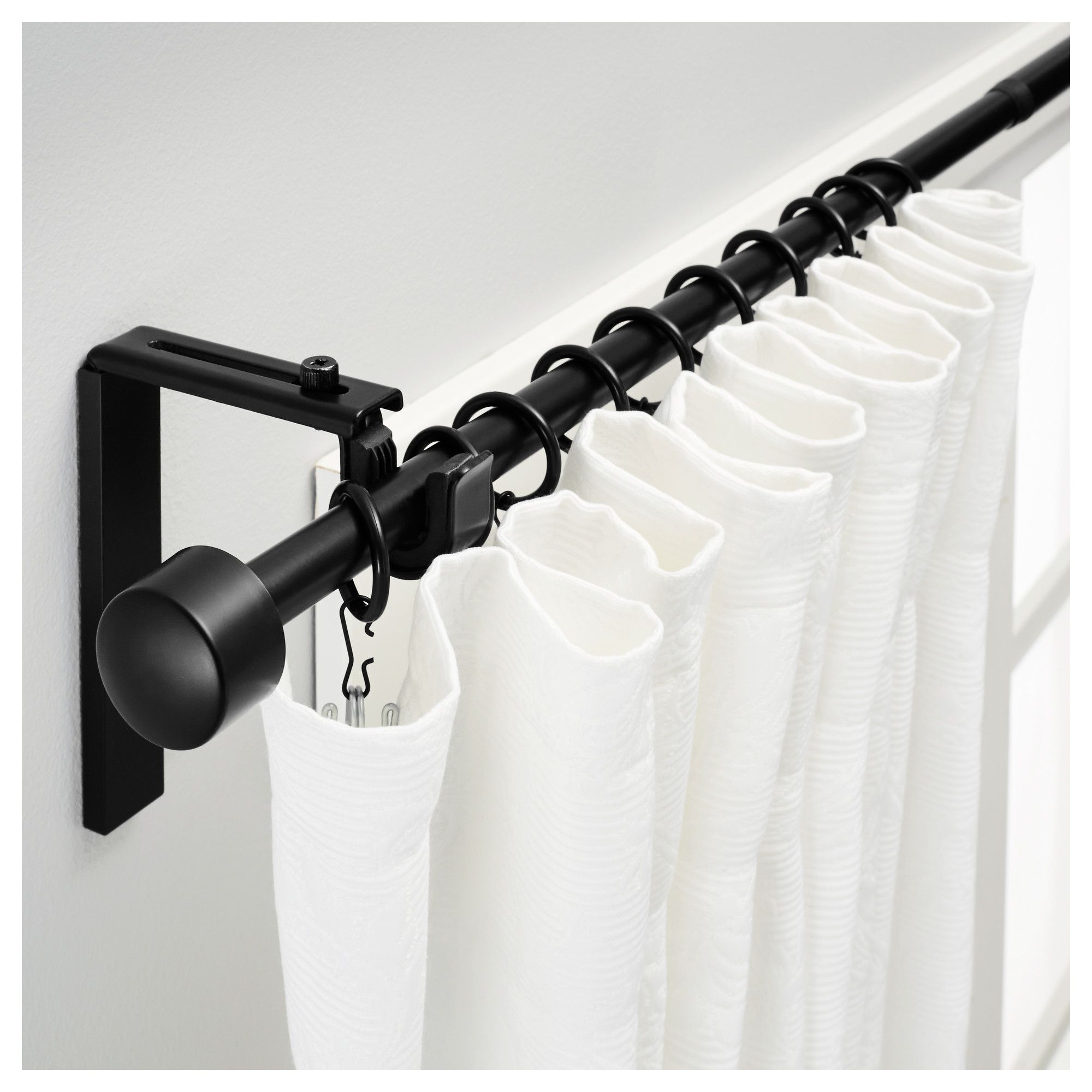 Black Shower Curtain Rod And Rings Black Curtain Rods Curtain