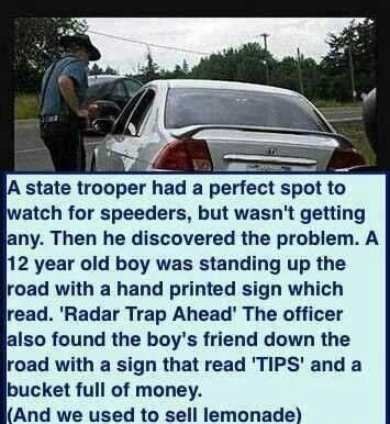 Speed trap