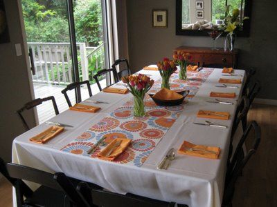 Good Wrapping Paper As A Table Runner Adds A Fun Pattern And Requires Little  Decor.