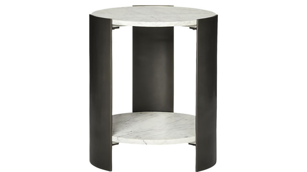 Beret Marble 2 Tier Side Table Reviews Cb2 Side Table Modern Side Table Table