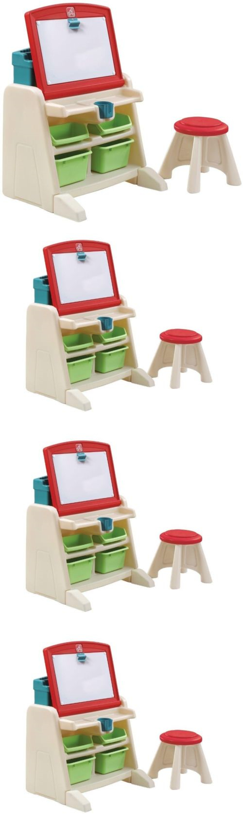 Step 2 52344: Kids Activity Center Flip Doodle Easel Desk Stool Children  Education Set No