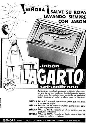 1950 Aprox Lagarto Jabon Cristalizado 2 Anuncios Antiguos