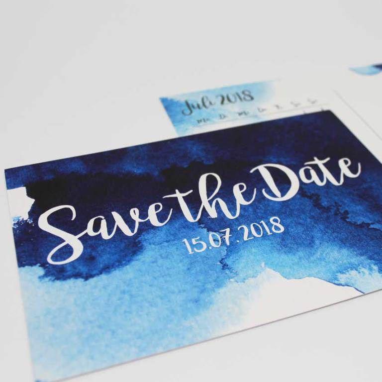 Save The Date Aquarell Hochzeitspapeterie Einladungskarten