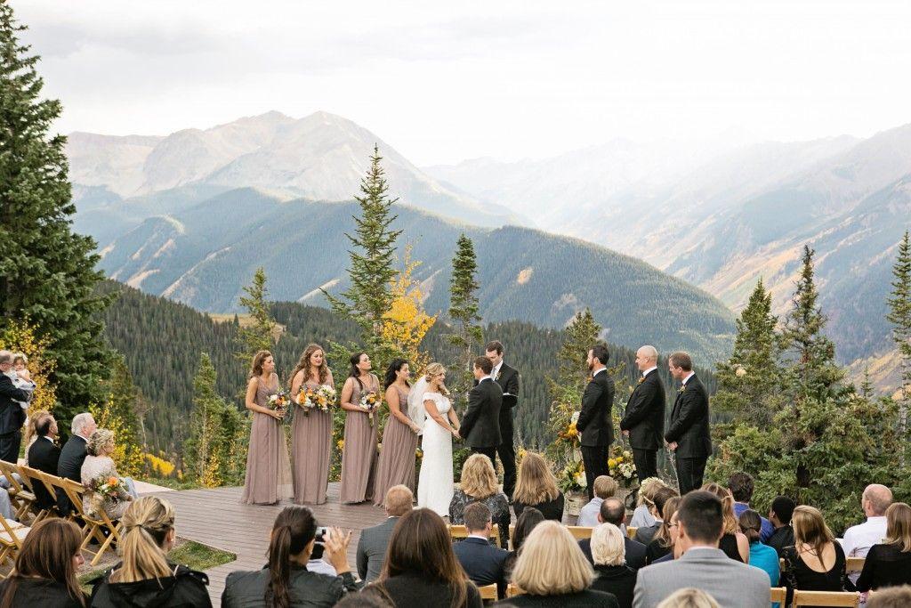Aspen Wedding Deck, The Little Nell Fall Aspen wedding