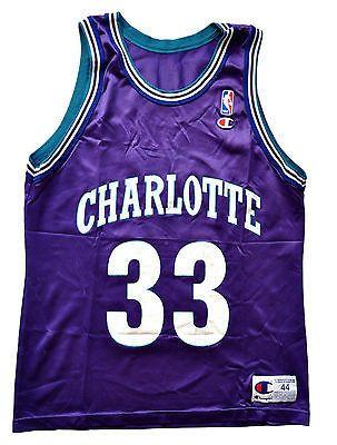 Alonzo Mourning Charlotte Hornets Replica Jersey - 44 L  f7c0c2705