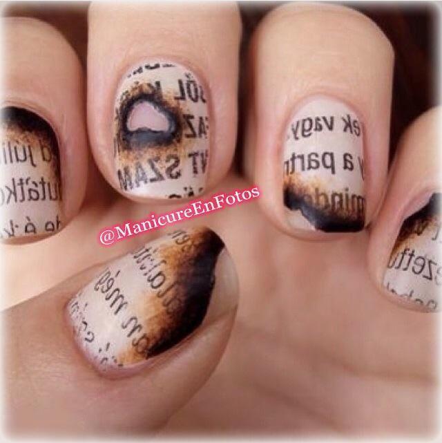 Geniales uñas de diario quemado