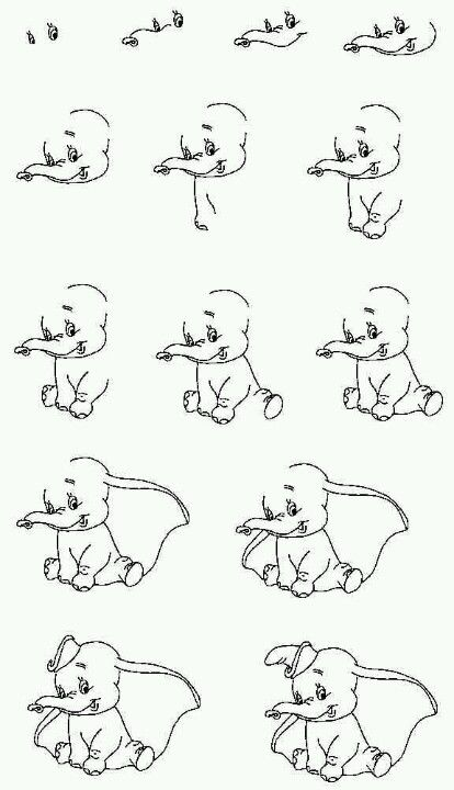 Super How to draw dumbo (With images) | Disney drawings, Easy drawings SE-28