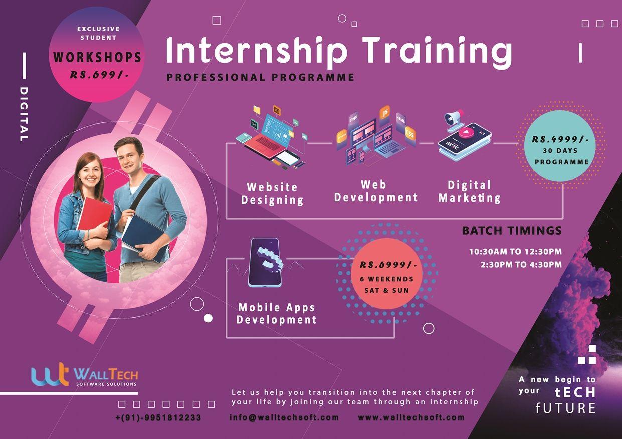 internship training  website designing  web development