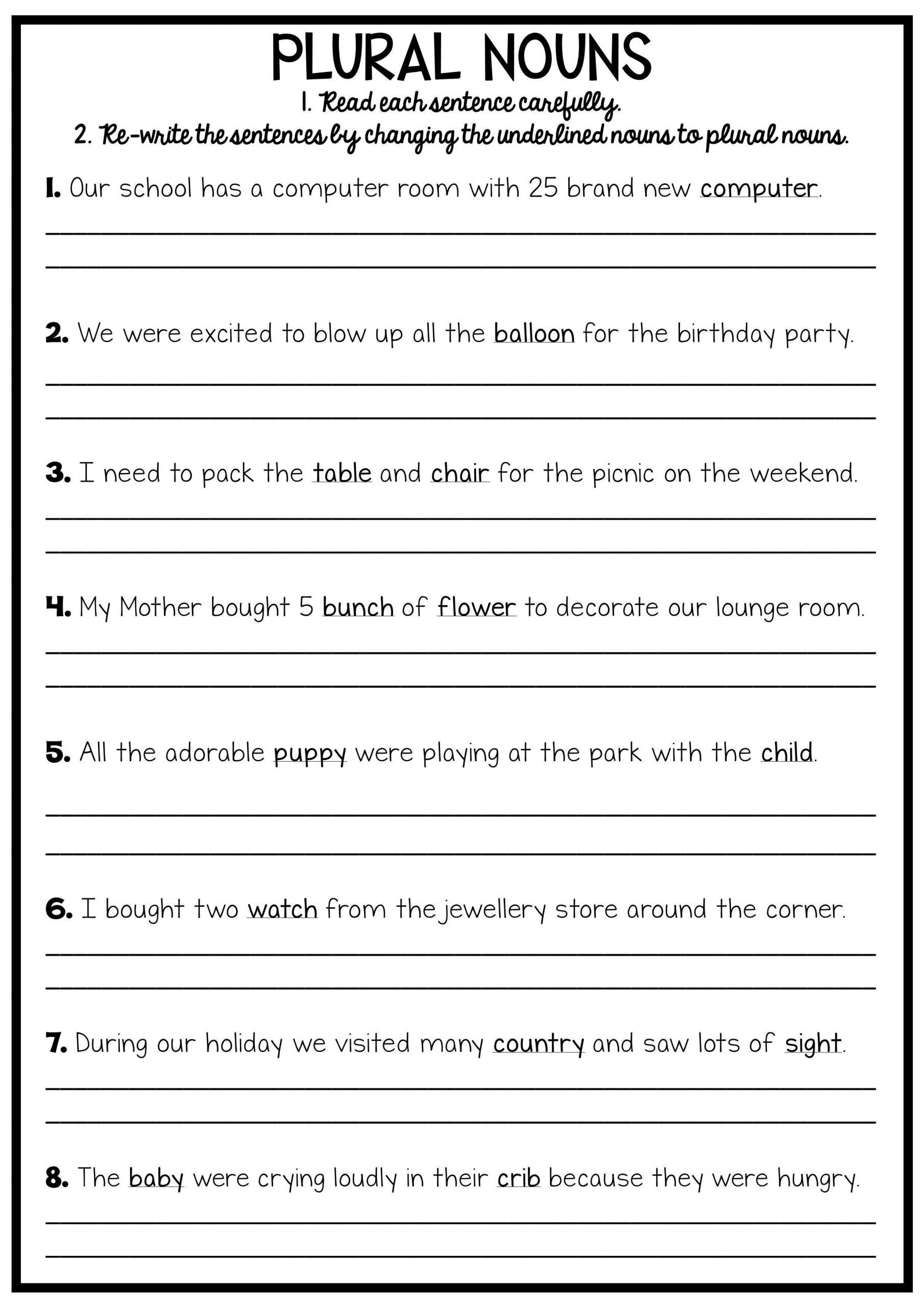 Combining Sentences Worksheet 3rd Grade In