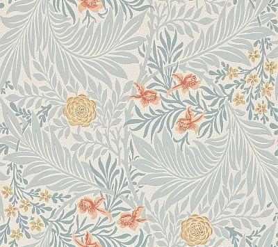 Larkspur by Morris Grey / Yellow / Orange Wallpaper