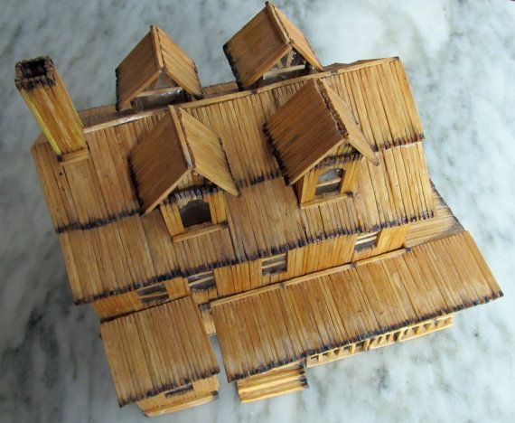 50 Matchstick House On Etsy Tramp Prison Folk Art