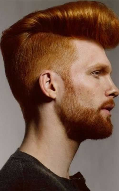 Guys With Short Red Mohawk Hair Red Hair Men Top Hairstyles For Men Pomp Haircut