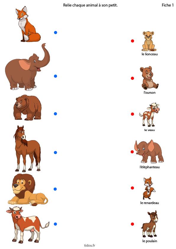 Les animaux et leurs petits (1) en 2020   Jeux éducatifs ...
