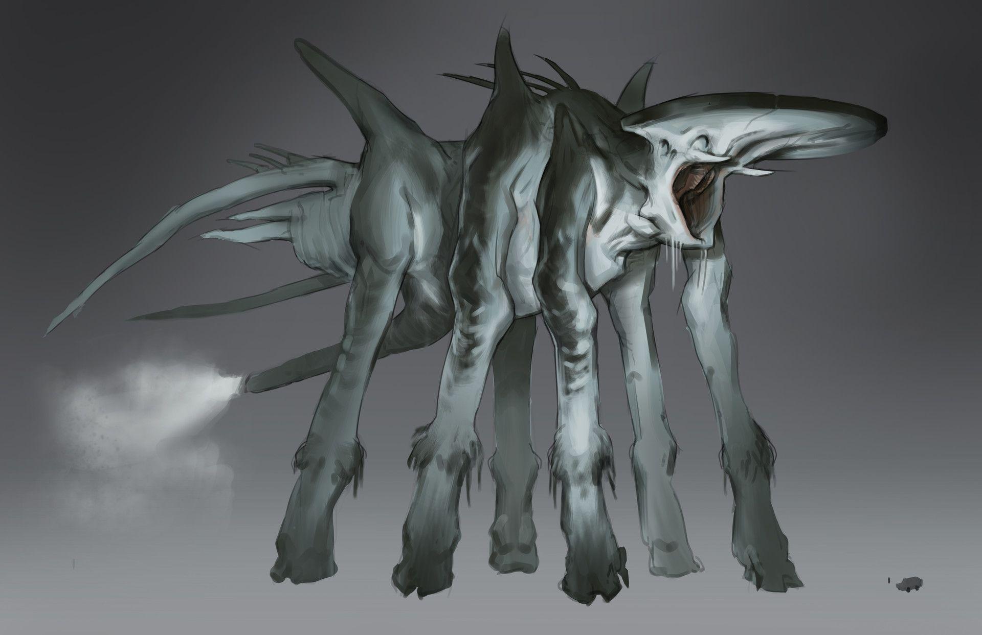 Artstation The Mist The Behemoth William 巴特 Bao Creatures