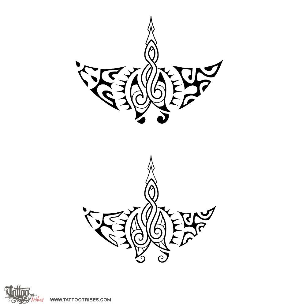 Hook tattoo designs - Chris And His Wife Have A Double Fish Hook Rua Maori Designstattoo