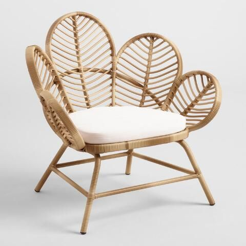 Natural All Weather Wicker Wailea Outdoor Occasional Chair   World Market is part of Outdoor chair set -