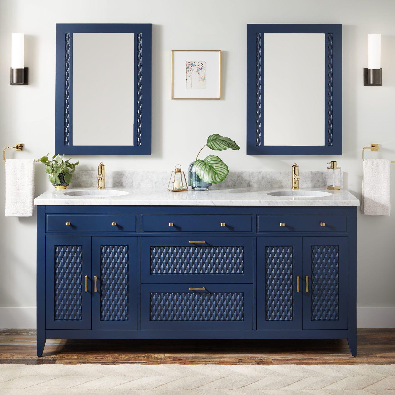 72 Thorton Mahogany Double Vanity For Undermount Sink Bright