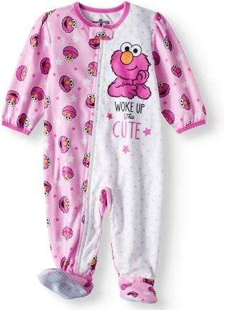 19372db5c4b3 Sesame Street Microfleece Footed Blanket Sleeper (Baby Girls ...