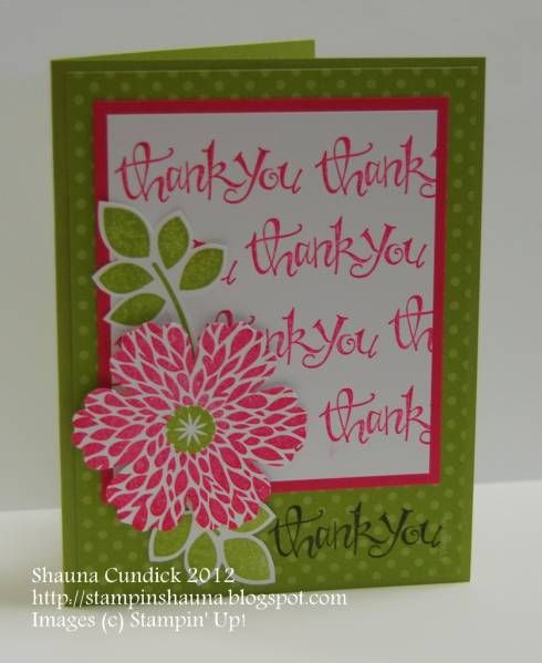 Bold Blossom Thanks SC389 by stampinshauna - Cards and Paper Crafts at Splitcoaststampers